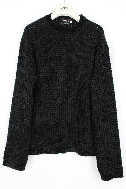 ジョルジオ アルマーニ[ ARMANI ] ニット セーター ブラック 黒 長袖 SIZE[48] メンズ トップス