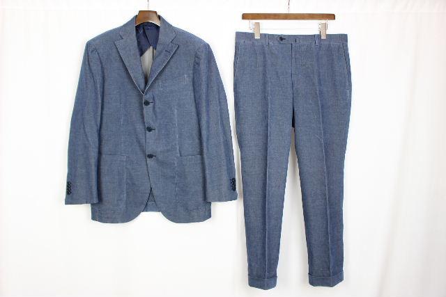 ゼニア [ Zegna ] CASHCO カシコ カシミヤ混 コーデュロイ スーツ ブルー系 メンズ ジャケット パンツ