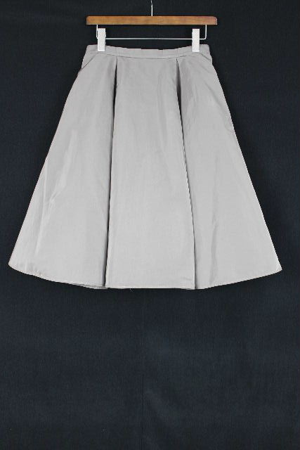ジルサンダー [ JILSANDER ] ミモレ ナイロン フレアースカート グレー系 SIZE[38] レディース ボトムス スカート