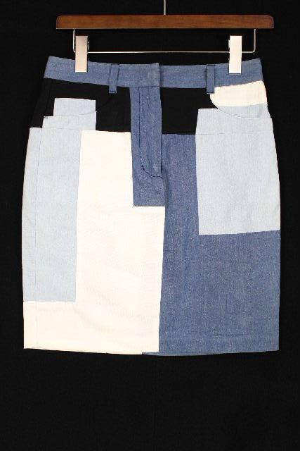 3.1 フィリップリム [ 3.1 Phillip Lim ] パッチワーク デニム スカート ブルー SIZE[0] レディース ボトムス