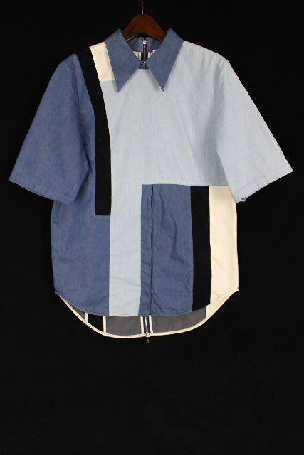3.1 フィリップリム [ 3.1 Phillip Lim ] パッチワーク デニム シャツ ブルー SIZE[2] レディース トップス プルオーバー ブラウス