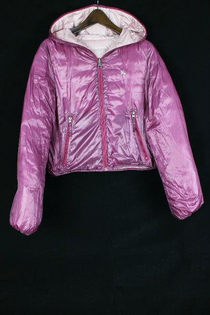 バーバリーブルーレーベル [ BURBERRY ] リバーシブル ダウンジャケット 紫×ピンク SIZE[38] レディース アウター ジャンパー ジャンバー ブルゾン