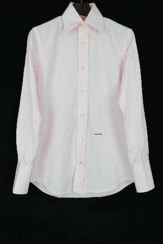 ディースクエアード [ DSQUARED2 ] ロゴ刺繍 シャツ ピンク 長袖 SIZE[46] メンズ カジュアルシャツ ドレスシャツ