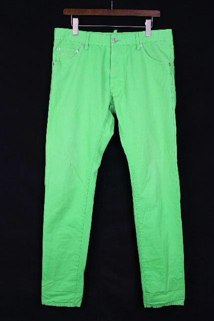 ディースクエアード [ DSQUARED2 ] カラー スキニー パンツ グリーン SIZE[48] メンズ ボトムス デニムパンツ