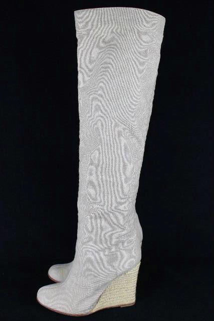 クリスチャン・ルブタン [ Louboutin ] ウエッジ ニーハイブーツ ベージュ SIZE[37] レディース シューズ ブーツ