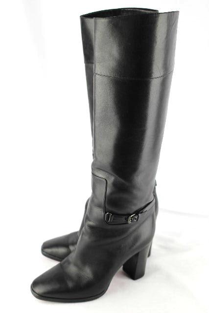 クリスチャン・ルブタン [ Louboutin ] ベルト レザー ロングブーツ ブラック 黒 SIZE[36] レディース ブーツ