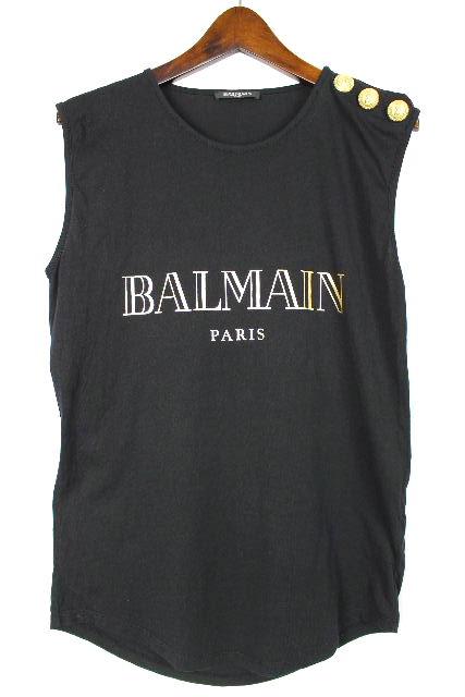 バルマン [ BALMAIN ] 17ss Tシャツ カットソー ブラック 黒 SIZE[34] レディース トップス