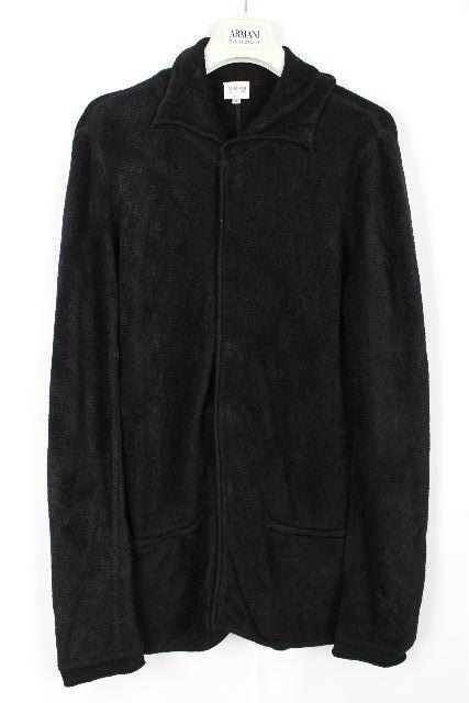アルマーニコレッツォーニ [ ARMANI ] シャツ ニット ジャケット ブラック 黒 SIZE[48] メンズ トップス アルマーニ