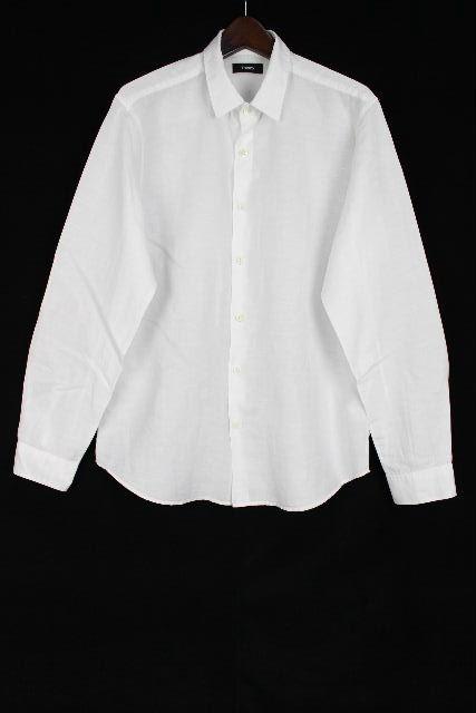 セオリー [ Theory ] リネン カジュアル シャツ ホワイト 白 長袖 SIZE[M] メンズ トップス 男性用 紳士用
