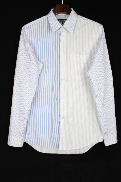 コムデギャルソン [ HOMME DEUX GARCONS ] ストライプ シャツ ブルー 長袖 SIZE[S] メンズ トップス カジュアルシャツ