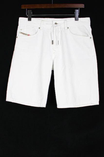 ディーゼル [ DIESEL ] ホワイト デニム ショートパンツ SIZE[28] メンズ ボトムス ハーフパンツ リペア加工