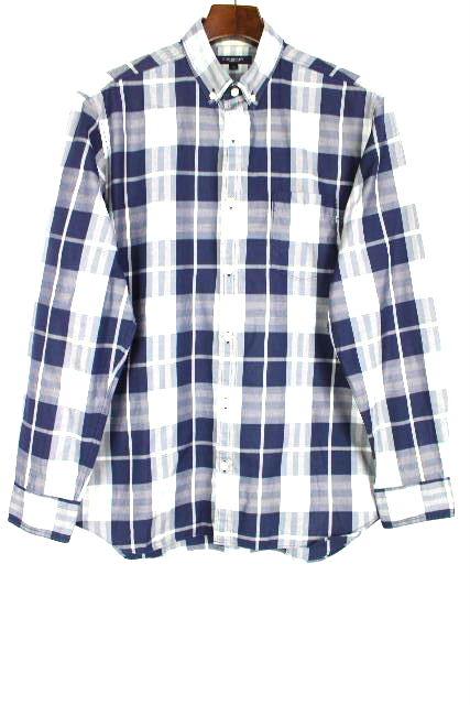 バーバリーロンドン [ BURBERRY LONDON ] チェック柄 カジュアルシャツ ブルー 青 半袖 SIZE[M] メンズ トップス ボタンダウンシャツ シャツ