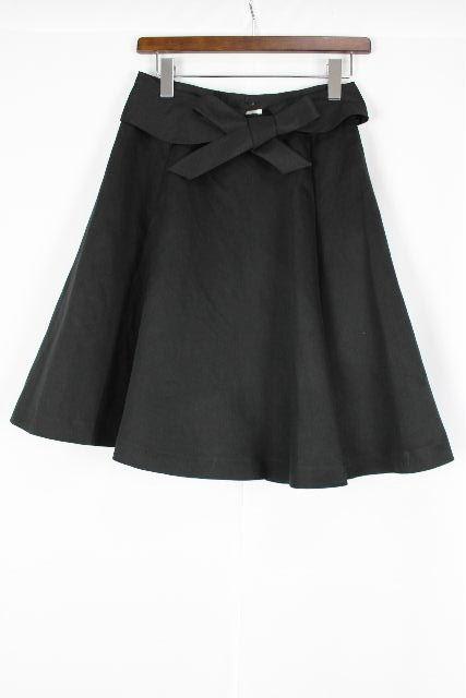 トゥービーシック [ TOBECHIC ] 襟リボン フレアースカート ブラック 黒 SIZE[40] レディース ボトムス スカート