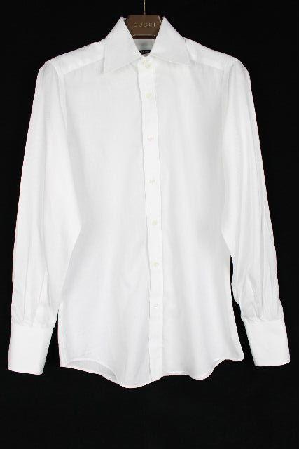 グッチ [ GUCCI ] ドレスシャツ ホワイト 長袖 SIZE[40・15 3/4] メンズ カッターシャツ ワイシャツ
