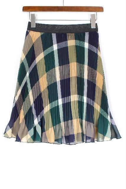 ブルーレーベル クレストブリッジ [ BLUE LABEL ] チェック柄 プリーツ スカート SIZE[38] レディース ボトムス