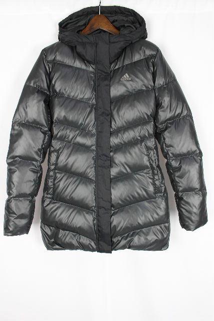 アディダス [ adidas ] フード付き ダウンコート ブラック 黒 SIZE[M] レディース トップス ダウンジャケット ブルゾン ジャンパー