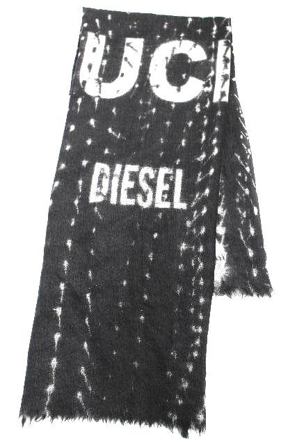 ディーゼル [ DIESEL ] ウール ショール ストール マフラー ブラック 黒系 メンズ 服飾小物