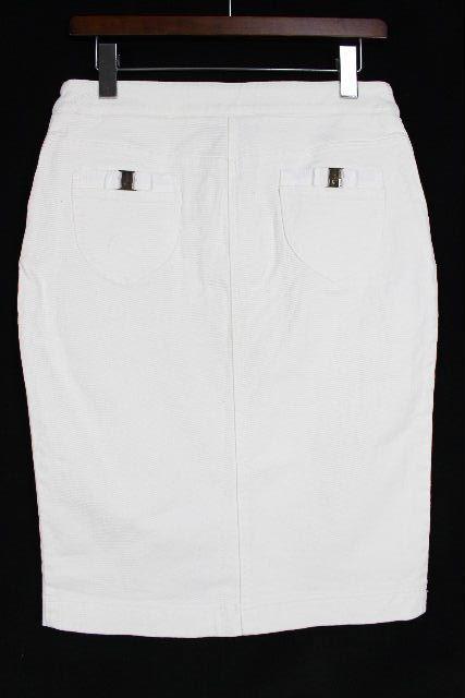 フェラガモ [ Ferragamo ] ヴァラリボン スカート ホワイト 白 SIZE[42] レディース ボトムス デニムスカート スカート