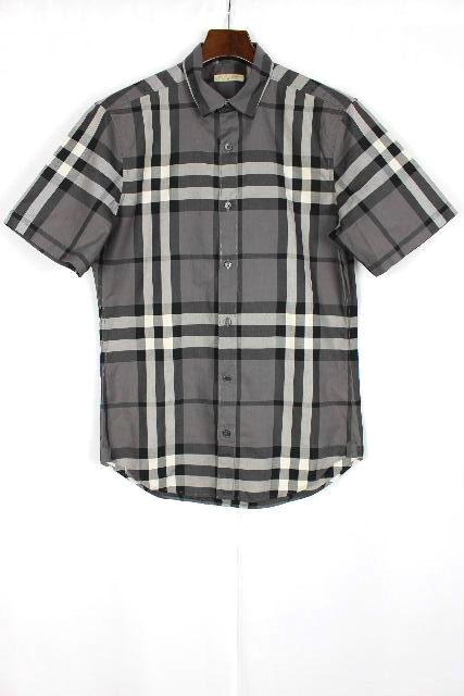 バーバリー ブリット [ BURBERRY BRIT ] チェック柄 カジュアルシャツ 半袖 黒 グレー SIZE[S] メンズ トップス シャツ