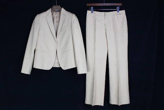 グッチ [ GUCCI ] シングル パンツ スーツ ベージュ SIZE[40] レディース ジャケット セットアップスーツ