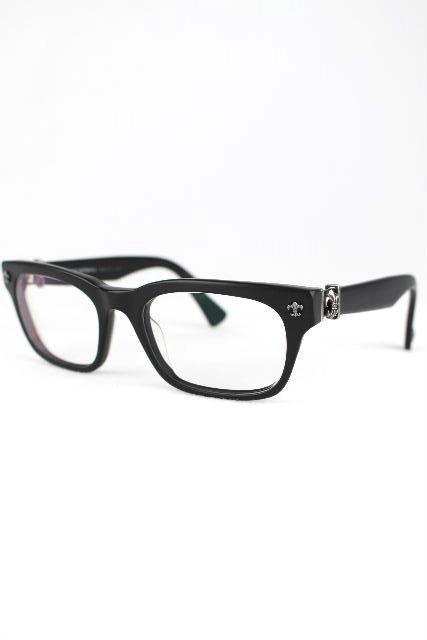 クロムハーツ [ Chrome Hearts ] ダガー眼鏡フレーム ブラック 黒 [GITTIN ANY?] メンズ レディース メガネ めがね ★付属品完備★