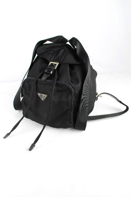 プラダ [ PRADA ] ナイロン ミニ リュックサック ブラック 黒 レディース ショルダーバッグ