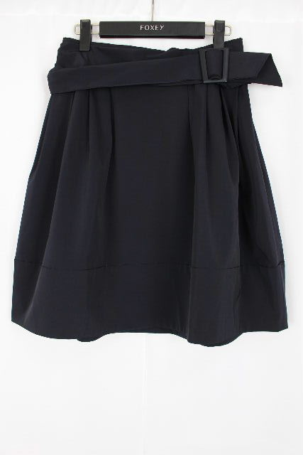 フォクシー NY [ FOXEY ] ベルト フレアースカート ネイビー 紺色 SIZE[38] レディース ボトムス スカート