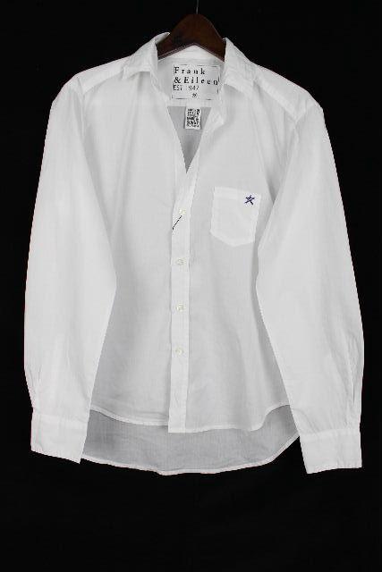 フランクアンドアイリーン [ FRANK&EILEEN ] スター コットン シャツ ブラウス ホワイト 白 長袖 [XS] レディース トップス フランク&アイリーン