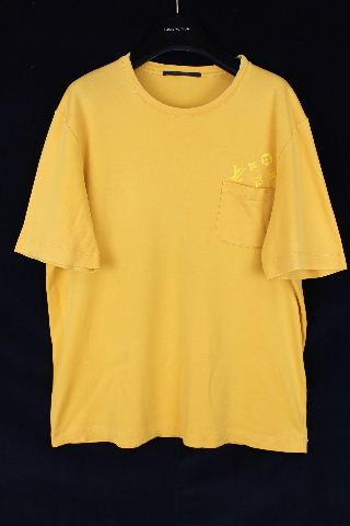 ルイヴィトン [ LOUISVUITTON ] モノグラム ポケット Tシャツ 半袖 イエロー SIZE[XL] メンズ トップス カットソー