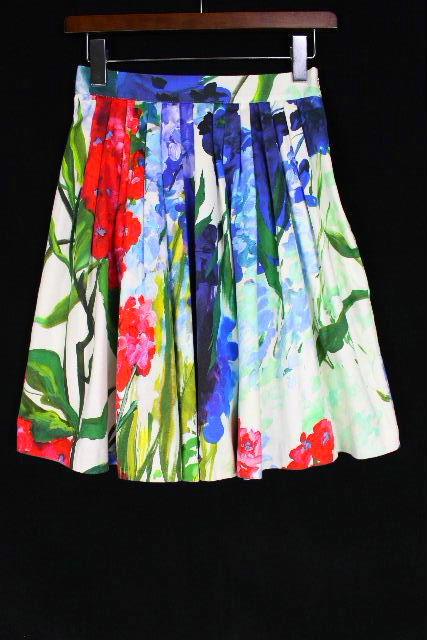 ブルーガール / ブルマリン [Blugirl ] フラワー フレアースカート ホワイト 白 SIZE[I38 D32] レディース ボトムス スカート 花柄