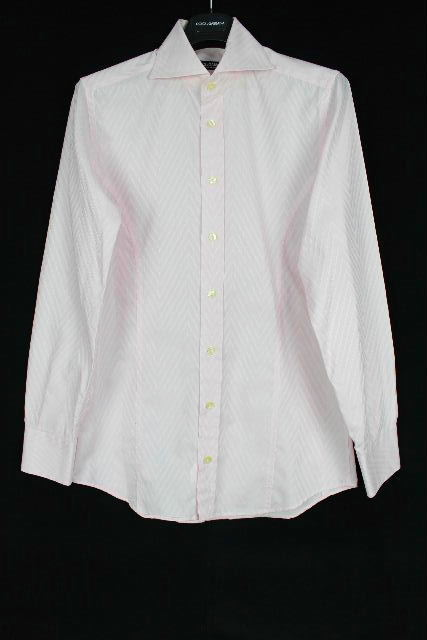 ドルチェ&ガッバーナ [ DOLCE&GABBANA ] ドレスシャツ ピンク Slimfit 長袖 SIZE[15.5/39] メンズ スリムフィット カジュアルシャツ カッターシャツ