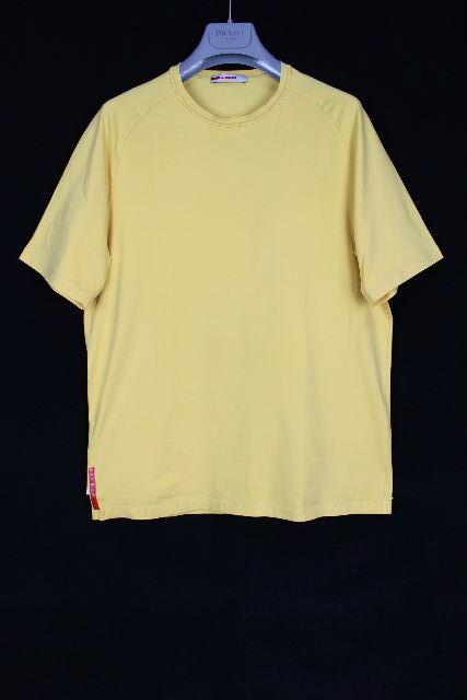 プラダスポーツ [ PRADA ] ポケット カットソー イエロー 半袖 SIZE[L] メンズ トップス Tシャツ プラダ