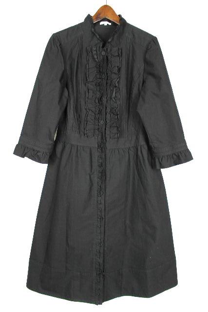 トゥービーシック [TOBECHIC] フリル シャツ ワンピース ブラック 黒 SIZE[46] レディース ワンピ