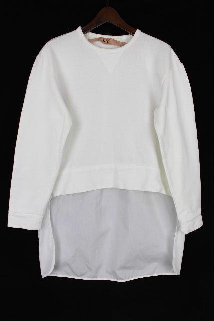 ヌメロヴェントゥーノ [ N°21 ] カットソー ブラウス ホワイト 白 長袖 SIZE[40] レディース トップス プルオーバー