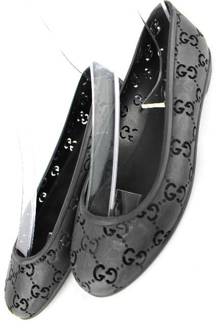 グッチ [ GUCCI ] GG柄 ラバーシューズ ブラック 黒 SIZE[35 22cm相当] レディース フラットシューズ バレエシューズ