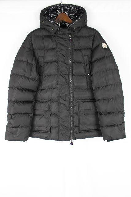 モンクレール [ MONCLER ]フード ダウンジャケット コート MEL 黒 SIZE[1] レディース アウター ブラック メル