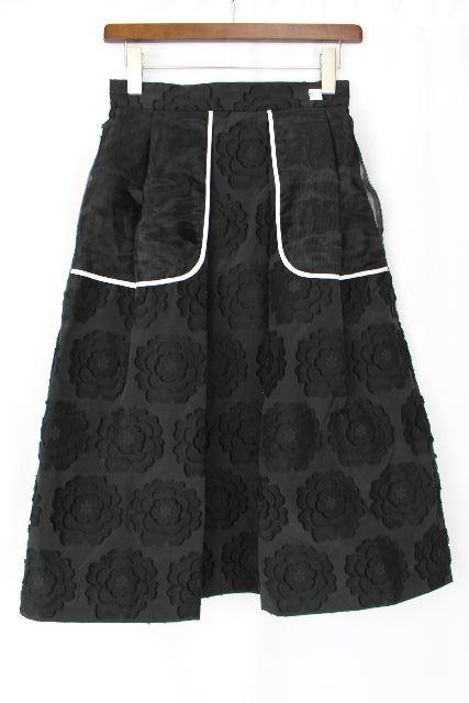 クラスロベルトカヴァリ [ CLASS roberto cavalli ]フラワー マキシ丈スカート ブラック 黒 レディース ボトムス スカート 花柄