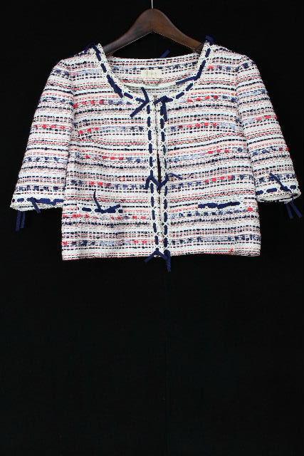 ハロッズ [ Harrods ] ツイード リボン ジャケット 半袖 SIZE[1] レディース トップス アウター