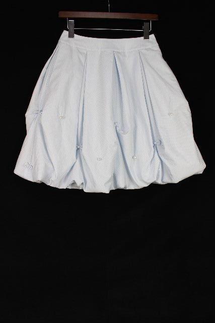 ルネ [ Rene ]パール リボン ストライプ フレアースカート SIZE[34] レディース ボトムス バルーンスカート スカート