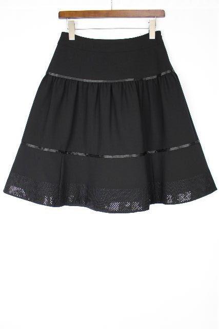 コトゥー [ COTOO ] フレアースカート ブラック 黒 SIZE[38] レディース ボトムス ストレッチ スカート