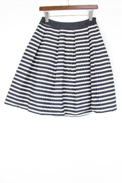 コトゥー [ COTOO ]ボーダー フレアースカート 紺色×白 SIZE[38] レディース ボトムス スカート