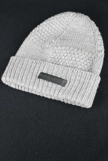 ルイヴィトン [ LOUISVUITTON ] ニット帽子 グレー メンズ 帽子 ヴィトン ビトン