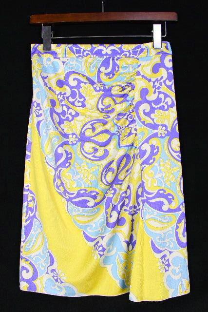 ブルマリン / ブルーガール [ Blumarine ] 柄物 ストレッチ タイトスカート SIZE[I38 D32] レディース スカート