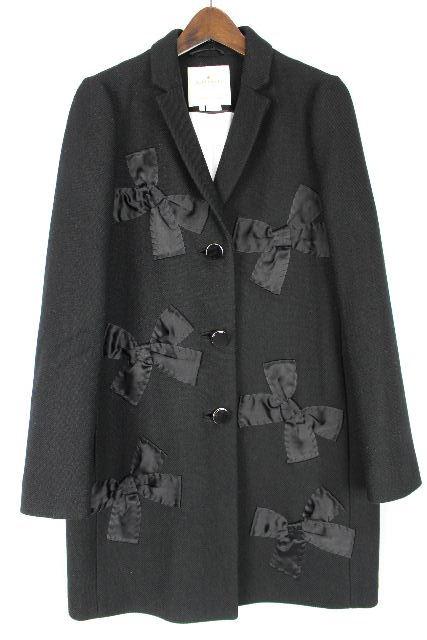 ケイトスペード [ katespade ] リボン コート ブラック 黒 SIZE[4] レディース アウター ロングジャケット