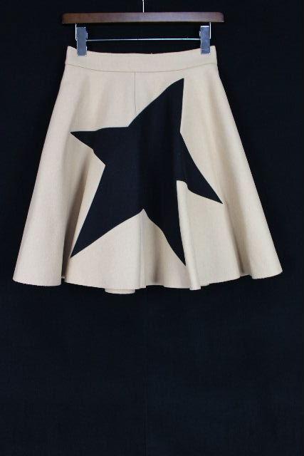 MSGM [ エムエスジーエム ] ワンスター フレアースカート ベージュ SIZE[40] レディース ボトムス スカート 星柄