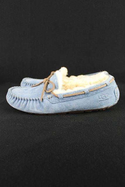 アグ [ UGG ] ダコタ リボン モカシン ブルー SIZE[ US8 JPN25cm] レディース ムートン ブーツ DAKOTA 星期天購入品