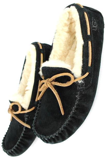 アグ [ UGG ] ダコタ リボン モカシン ブラック 黒 SIZE[ US6 JPN23cm] レディース ムートン ブーツ DAKOTA