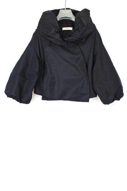 プラダ [ PRADA ] ボリュームスリーブ ナイロン ジャケット ネイビー 紺色 SIZE[40] レディース アウター ブルゾン ジャンパー ジャンバー