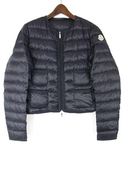 モンクレール [ MONCLER ] ライトダウンジャケット ネイビー 紺色 SIZE[2]レディース ダウン ブルゾン コート
