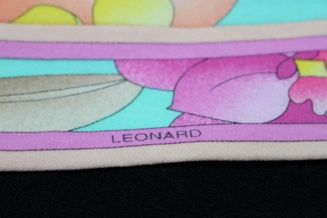 レオナール [ LEONARD ] ロゴ フラワー チュニック ワンピース グリーン SIZE[40] レディース 花柄 ワンピ